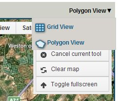 Screenshot of the grid and polygon view options